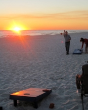 Corn Hole at Sunset