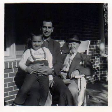 Me, my dad and grandfather...each on his pappy's knee.
