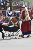 Hundreds of parents, all in traditional Dutch dress, paraded their babies in this Spring ritual.