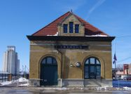 East Side of Creston's Restored Depot