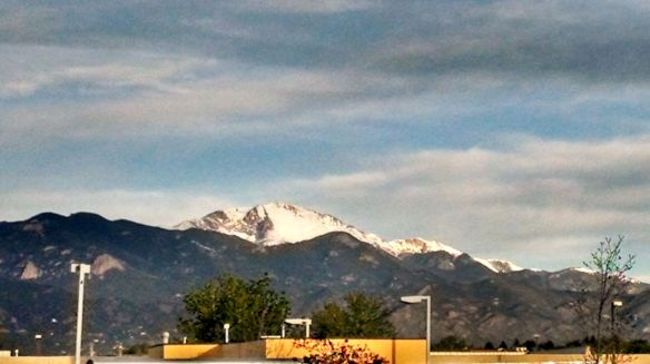 Pikes Peak from Colorado Springs, Colorado
